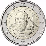2 EURO COMMEMORATIVA ITALIA 2014 ANNIVERSARIO GALILEO GALILEI - Italia