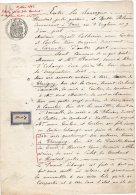 VP606 - THORIGNY X CARNETIN 1892 - Acte D´échange De Terres Mr HOUDARD - Manuscripts