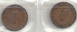 Deutschland 1 Pfg. Pfennig Bank Deutscher Länder 1948 D 2x! - 1 Pfennig
