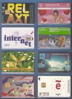 LOT DE 8 CARTES ETRANGERE - Télécartes