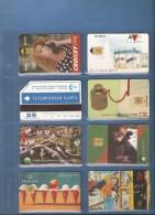 LOT DE 8 CARTES ETRANGERE - Colecciones