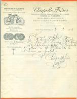 """94  Saint Ouen L'aumone  - Courrier Chapelle Freres """"  Motocyclettes """" 1902 - Transports"""