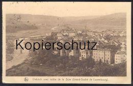 ALTE POSTKARTE DIEKIRCH AVEC VALLÉE DE LA SURE Jos. Fisch Tabacs-cigares Luxemburg Luxembourg Sauertal Cpa Postcard - Diekirch