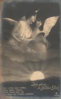 "German B&W Photo Postcard With Angels - ""Herr Gib Uns Des Friedens Glück"" - GLCo 7533/6 (1916) - Anges"