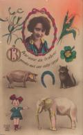 """CPA Colorisée - Chance : """"Pour Avoir Du Bonheur, Gardez-moi Sur Votre Cœur"""" - Dix 2186 (années 1910) - Philosophie & Pensées"""