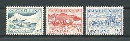 GROENLAND 1971  N° 66/68 **  Neufs = MNH Superbes Cote 1.20 € Faune Fauna Transports Poste Chiens Dog Bateaux - Non Classés