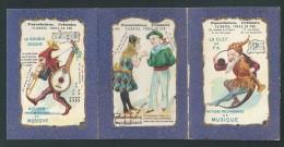 Chromo Publicitaire Gombert. Triptyque. Magasins De L´Union, Paris. Voir Détails. 2 Scans. - Collections