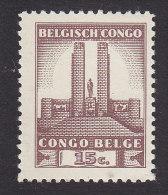 Belgian Congo, Scott #174, Mint Never Hinged, King Albert Memorial Leopoldville, Issued 1941 - Belgian Congo