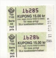 Alt413 Biglietto Autobus, Ticket Bus   Stoccolma, Stockholm   Billet Statens Lokal Traffic   Svezia, Sweden, Suede - Metropolitana
