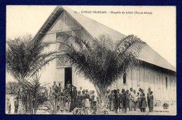 Congo Français. Chapelle De Lékéti ( Haute- Alima).Missionnaire Et Enfants. - Congo Français - Autres