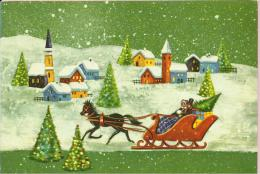 HAPPY NEW YEAR - Horse Carriage, 1969., Yugoslavia (4690) - New Year