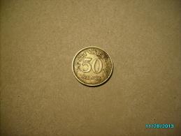 ESTONIA 50 SENTI 1936 - Estonie