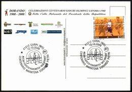 OLYMPIC ATHLETICS ITALIA CARPI 2008 - CENTENARIO MARATONA DORANDO PIETRI - MOSTRA FILATELICO/NUMISMATICA - C.U.
