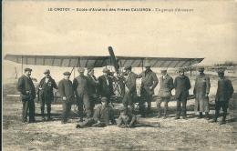 LE CROTOY  - Ecole D'Aviation Des Freres CAUDRON - Un Groupe D'Aviateur - Le Crotoy