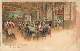 Dépts  Divers - Monaco - Ref H407  - Monte-carlo - Casino - Salle De Jeux - Carte Illustrée - Carte Bon état - - Monte-Carlo