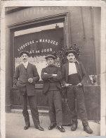 Commerces - Carte-Photo  - Café Bistrot Hommes - Cafés