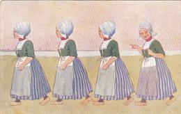 Dutch Girls Walking