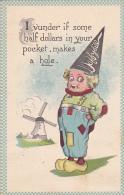 Dutch Boy wearing Dunce Cap 1913