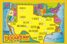 Map Of Texas The Lone Star State