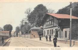 Bonsecours   76    Tramway   Gare D'Eauplet Et Du Féniculaire  (décollée) - Bonsecours