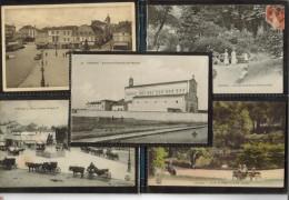 Di-16-COGNAC--Lot De 5 Cpa -vues Diverses De La VilleJardinPlaçe Fraçois 1er*Chapelle Des Moines - Cognac