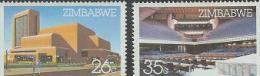 ZIMBABWE 1986 MNH Stamp(s) Harare Conf. Centre 338-339 #5092 - Zimbabwe (1980-...)