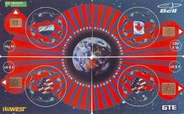 4 Telecartes En Puzzle PAYS-BAS (1) JOINT GLOBAL SERIE OF CANADA BELL + US WEST + GTE + PTT TELECOM. VERY RARE! - Puzzles