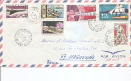 Wallis Et Futuna -Basket-Ball -Concorde ( Lettre Par Avion De 1972 Vers La France à Voir) - Covers & Documents