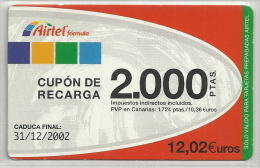 = SPAIN -  AIRTEL  - 14  - MY COLLECTION = - Airtel