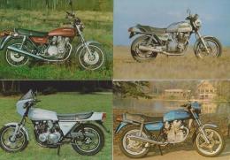 MOTO MOTOS ( LOT DE 4 CARTES )  TRES BON ETAT  ! ! ! - Motorbikes