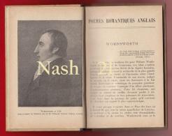 1929 -  Livre De Poèmes Romantiques Anglais - Auteurs (  Wordsworth, Coleridge, Shelley ) - Hachette - - Libros Antiguos Y De Colección