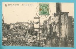 "152 Op Kaart "" Ruines De Louvain / Rue De Diest "" Met Stempel LOUVAIN 1F LEUVEN - 1918 Red Cross"