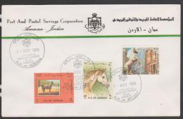 Jordan ,1989,Amman,Arabian Horse Fes. ,FDC.Cover. - Jordanië