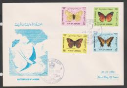 Jordan,1992, Amman,Butterflies ,FDC. Cover. - Jordanië