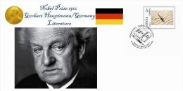 Spain 2013 - Nobel Prize 1912 - Literature - Gerhart Hauptmann/Germany Special Cover - Prix Nobel