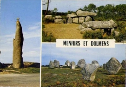 La Bretagne - Menhirs Et Dolmens - Formato Grande Viaggiata - V - Dolmen & Menhirs