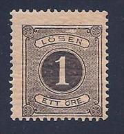 Sweden, Scott # J12 MNH Postage Due Numeral, 1880, Cracked Gum - Postage Due