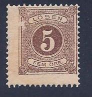 Sweden, Scott # J14 Mint Hinged Postage Due Numeral, 1880, Cracked Gum, Face Scrape - Postage Due