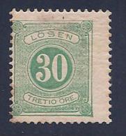 Sweden, Scott # J20 Mint Hinged Postage Due Numeral, 1877 - Postage Due