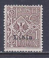 Libya, Scott # 1 Mint Hinged Italy Stamp Overprinted, 1915 - Libya