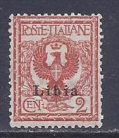 Libya, Scott # 2 Mint Hinged Italy Stamp Overprinted, 1912 - Libya