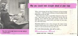 "Remington Rand Canadian Head Office - Toronto, Ontario   Sherbrooke, Quebec  9"" X 4""  22.5 Cm X 10 Cm - Blotters"