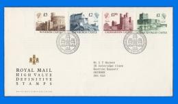 "GB 1988-0008, High Value Definitive Stamps ""Castles"" FDC, PB Edinburgh SHS - FDC"