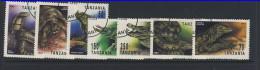 TANZANIE 1993 REPTILES  SCOTT N°1128/34 OBLITERE - Reptiles & Batraciens