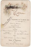 Menu Déjeuner Du 24 Août 1892 Paysage Marguerites - Menú