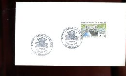 Enveloppe Premier Jour 1er Fdc Fabriquée 16X9 Pont Canal De Briare 1990 Briare - 1990-1999