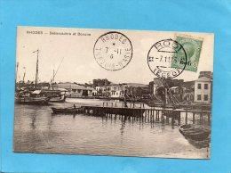 GRECE-RHODES-turquie Asie-tour Des Anges- Moulins-Cad-nov 1916-Rodi-stamp Italien Rodi - Grèce