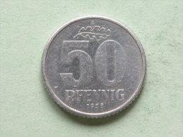 1958 A - 50 PFENNIG / KM 12.1 ( For Grade, Please See Photo ) ! - [ 6] 1949-1990 : GDR - German Dem. Rep.