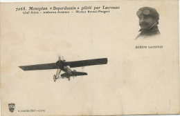 Marius Lacrouze Né A Berzé La Ville Chef Pilote Amberieu Aviation Ain Monoplan Deperdussin Moteur Roosel Peugeot - Autres Communes