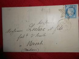 EE_22_lettre Avec Etoile 26 Sur 60  A Etudier,verso - Marcophilie (Lettres)